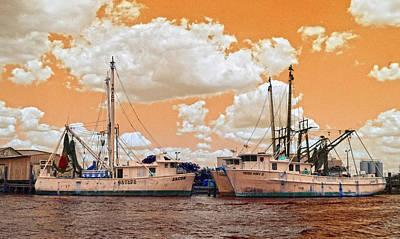 3 Shrimp Boats Art Print