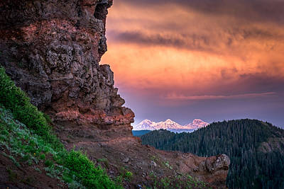 3 Sisters From Iron Mountain Art Print by Jeffrey Green