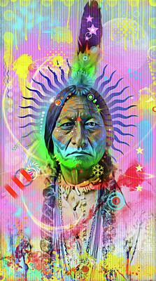Indian Chief Digital Art - Sitting Bull by Gary Grayson