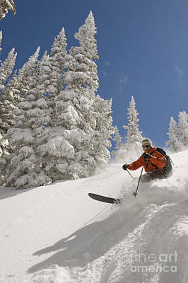 Photograph - Skier In Wasatch Mountains, Utah by Howie Garber
