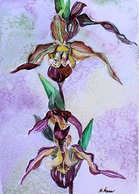 Painting - Slipper Foot Orchid by Mindy Newman