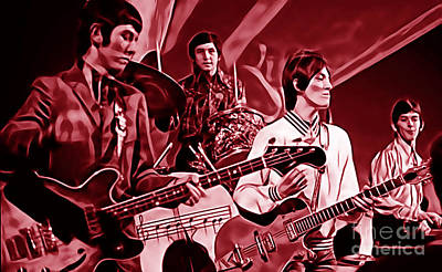 Rock N Roll Mixed Media - Small Faces Collection by Marvin Blaine