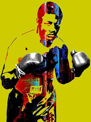 Retro Mixed Media - Smokin Joe Frazier Collection by Marvin Blaine