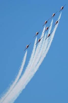 Photograph - Snowbirds Over English Bay by Ross G Strachan