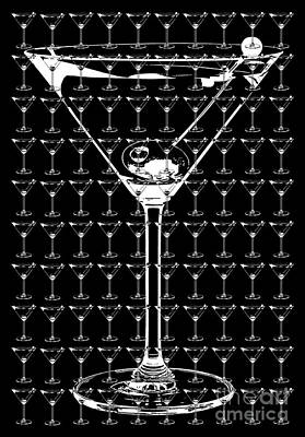 So Many Martinis So Little Time Print by Jon Neidert