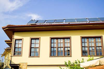 Suburban Photograph - Solar Panels by Tom Gowanlock