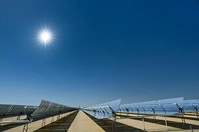 Solar Power Plant, California, Usa Art Print by David Nunuk