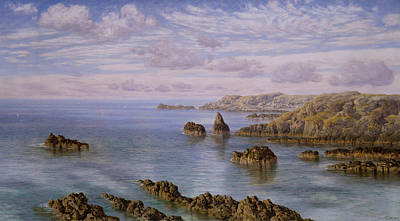 Southern Art Painting - Southern Coast Of Guernsey by John Brett