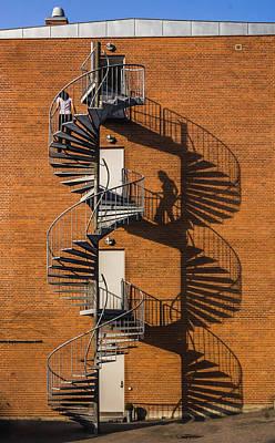 Spiral Staircase Photograph - Spiral Staircase by Elmer Jensen