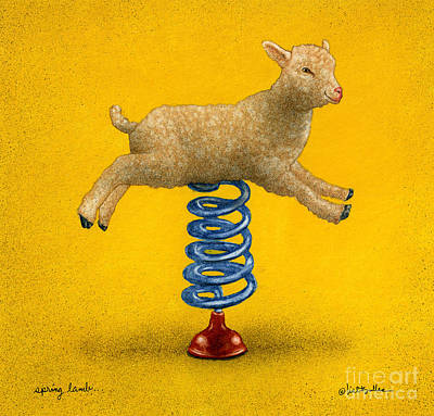 Painting - Spring Lamb... by Will Bullas