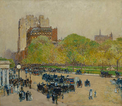 Painting - Spring Morning In The Heart Of The City by Childe Hassam