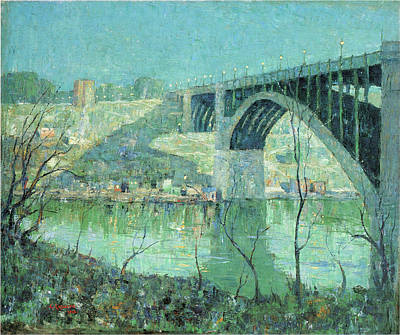 Photograph - Spring Night Harlem River by Ernest Lawson