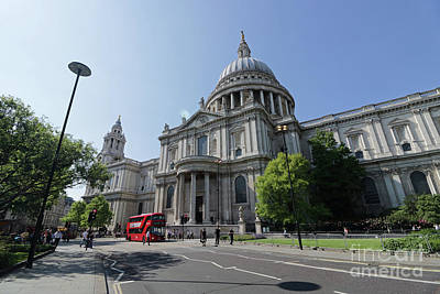 Photograph - St Pauls Cathedral London by Julia Gavin