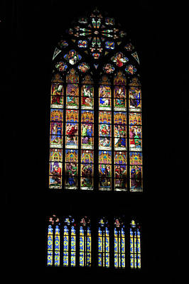 Spiers Photograph - Stained Glass - Cologne Cathedral - Germany by Jon Berghoff