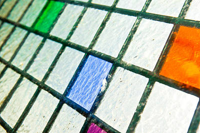 Color Block Photograph - Stained Glass by Tom Gowanlock