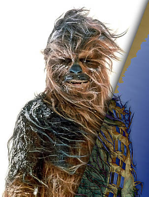 Science Fiction Mixed Media - Star Wars Chewbacca Collection by Marvin Blaine