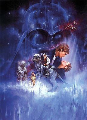 Horror Digital Art - Star Wars Episode V - The Empire Strikes Back 1980 by Unknow