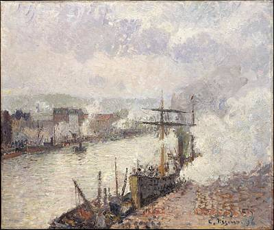 Steamboats In The Port Of Rouen Original