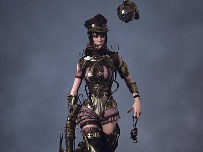 Steampunk Digital Art - Steampunk by Maye Loeser