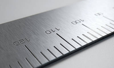 Steel Ruler Closeup Art Print by Allan Swart