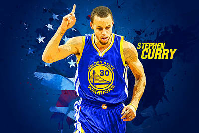 Lebron Digital Art - Stephen Curry by Semih Yurdabak