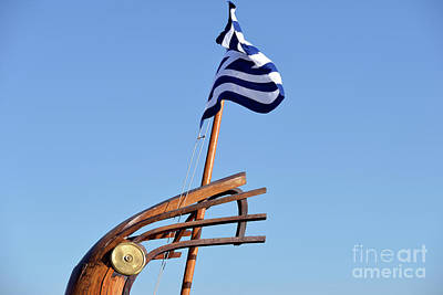 Wood Photograph - Stern Of A Full Scale Copy Of An Ancient Trireme by George Atsametakis