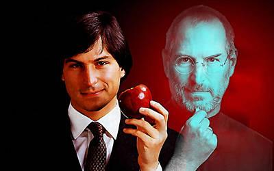 Mixed Media - Steve Jobs by Marvin Blaine