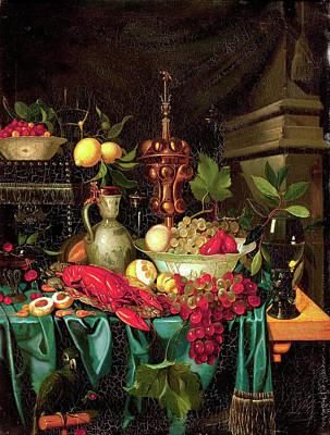 Heem Painting - Still Life by Jan Davidsz
