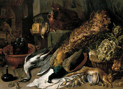 Painting - Still Life With A Wine Cooler by Frans Snyders