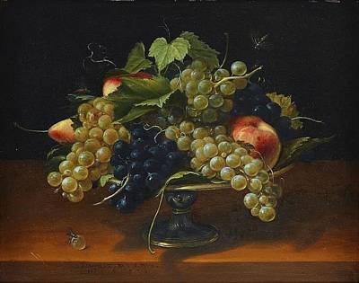 Still Life With Grapes Art Print by MotionAge Designs