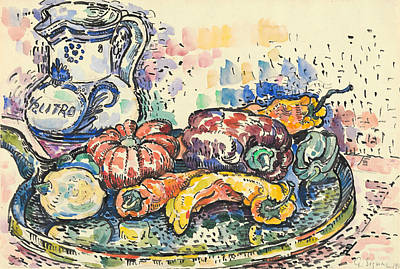 Painting - Still Life With Jug by Paul Signac