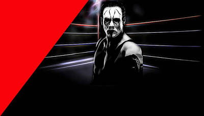 Sting Steve Borden, Sr. Wrestling Collection Art Print by Marvin Blaine