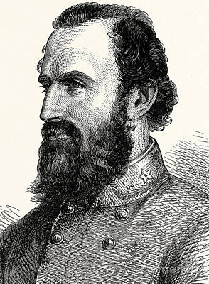 Jackson Drawing - Stonewall Jackson by American School