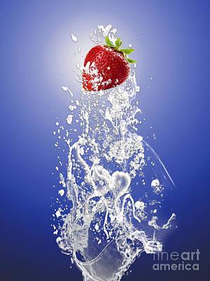 Fruit Mixed Media - Strawberry Splash by Marvin Blaine