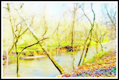 Digital Art - Stream In Spring, Montgomery County, Pennsylvania by A Gurmankin