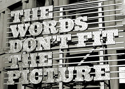 Photograph - Street Art Words by JAMART Photography