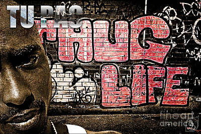 Rap Digital Art - Street Phenomenon 2pac by The DigArtisT