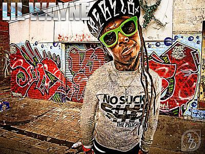 Drizzy Wall Art - Digital Art - Street Phenomenon Lil Wayne by The DigArtisT