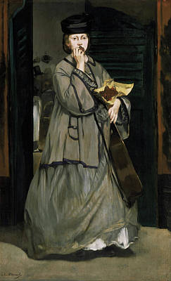 Fruit Stand Painting - Street Singer by Edouard Manet