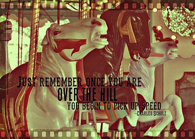 Striking Carousel Quote Art Print by JAMART Photography