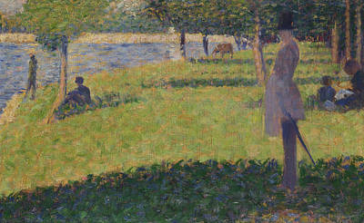 Study For La Grande Jatte   Art Print by Georges Seurat