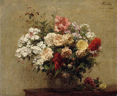 Painting - Summer Flowers by Henri Fantin-Latou