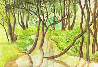 Summer Landscape, Painting Art Print