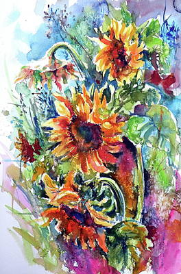 Painting - Sunflowers by Kovacs Anna Brigitta