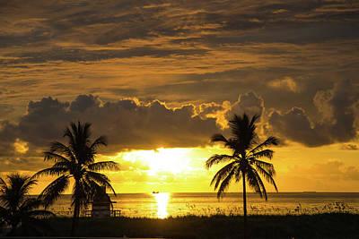Photograph - Sunrise Miami Beach by Dart and Suze Humeston