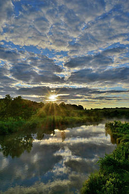 Photograph - Sunrise On Nippersink Creek In Glacial Park by Ray Mathis