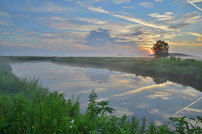 Photograph - Sunrise Reflected In Nippersink Creek In Glacial Park by Ray Mathis