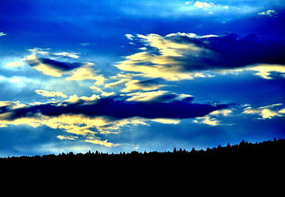 Yellowstone Digital Art - Sunset by Aron Chervin