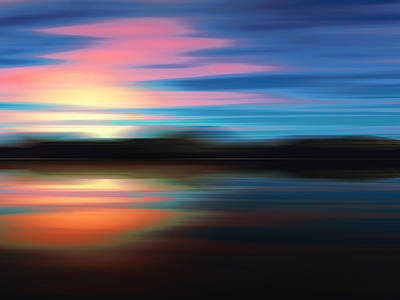Beautiful Digital Art - Sunset by Alexandra Kleist