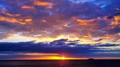 Puerto Rico Digital Art - Sunset In Aguadillia Puerto Rico  by Sheryl Chapman Photography